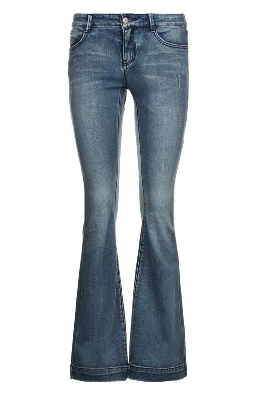 Джинсы Mo&amp;CoДжинсы<br>Дженни Кам включила в коллекцию сезона весна-лето 2016 года джинсы bootcut с низкой посадкой на талии. Мастера марки создали модель из эластичного хлопка с небольшими потертостями. Нам нравится сочетать с кремовой блузой и коричневыми босоножками.<br><br>Российский размер RU: 42<br>Пол: Женский<br>Возраст: Взрослый<br>Размер производителя vendor: S<br>Материал: Хлопок: 91.1%; Полиэстер: 7.8%; Эластан: 1.1%;<br>Цвет: Синий