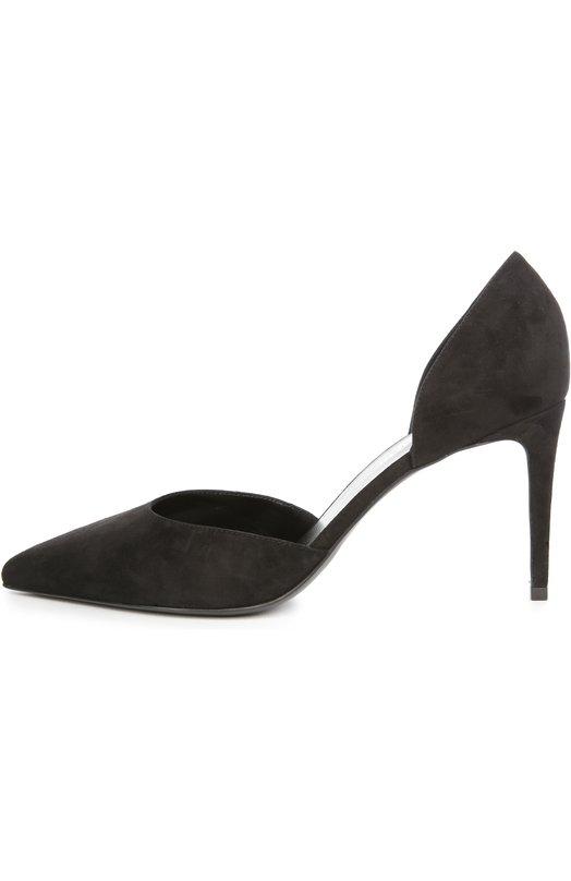 Туфли Saint LaurentТуфли<br>В весенне-летнюю коллекцию бренда, основанного Ивом Сен-Лораном, вошли черные туфли Paris с зауженным мысом, на шпильке средней высоты. Мастера марки выполнили модель dOrsay из мягкой бархатистой замши.<br><br>Российский размер RU: 37<br>Пол: Женский<br>Возраст: Взрослый<br>Размер производителя vendor: 37<br>Материал: Стелька-кожа: 100%; Подошва-кожа: 100%; Замша натуральная: 100%;<br>Цвет: Черный