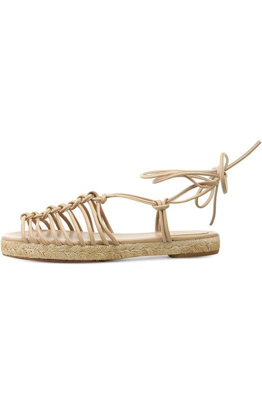 Плетеные сандалии с ремешками на щиколотке Chloe CH26562/NAPPA 0CEAN SHEEPSKIN