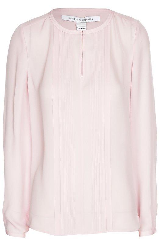 Шелковая блуза с плиссированной планкой Diane Von Furstenberg S945901J16