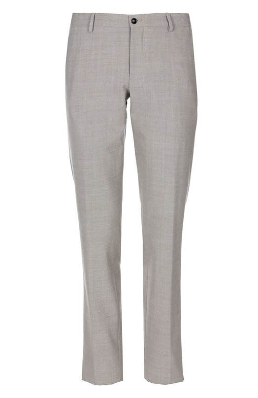 Брюки Giorgio ArmaniБрюки<br>Джорджио Армани обновил цветовую гамму меланжевых прямых брюк. Изделие из весенне-летней коллекции 2016 года сшито из шерстяного муслина оттенка грэш. Нам нравится носить со светлой рубашкой, пиджаком в клетку и коричневыми монками.<br><br>Российский размер RU: 62<br>Пол: Мужской<br>Возраст: Взрослый<br>Размер производителя vendor: 60<br>Материал: Подкладка-ацетат: 60%; Полиэстер: 52%; Эластан: 5%; Шерсть: 43%; Подкладка-купра: 40%;<br>Цвет: Серо-бежевый