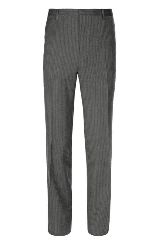 Брюки LanvinБрюки<br>Прямые брюки со стрелками изготовлены мастерами бренда, основанного Жанной Ланван, из тонкой шерсти с добавлением мягкого кашемира. Попробуйте носить изделие из весенне-летней коллекции 2016 года с рубашкой, бомбером и ботинками.<br><br>Российский размер RU: 56<br>Пол: Мужской<br>Возраст: Взрослый<br>Размер производителя vendor: 54-R<br>Материал: Шерсть: 99%; Подкладка-вискоза: 100%; Кашемир: 1%;<br>Цвет: Серый