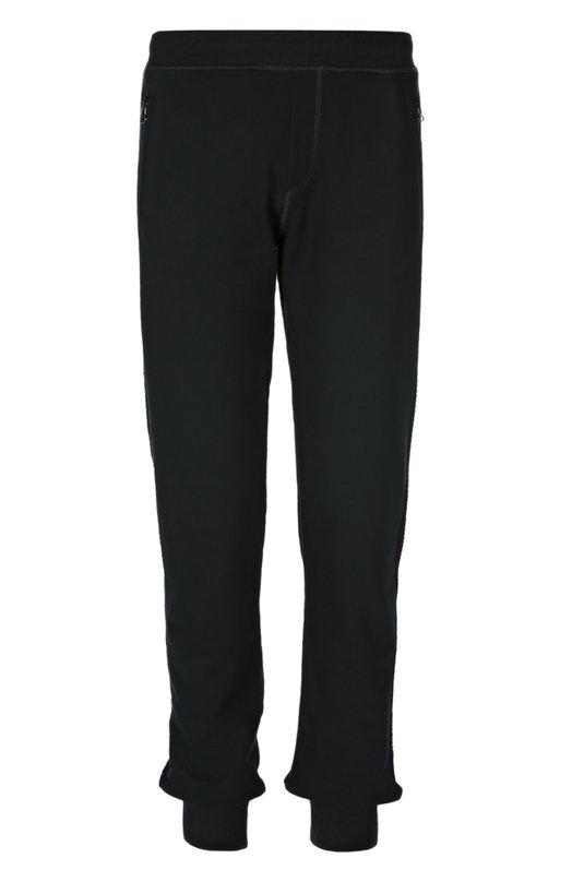 Брюки джерси LanvinБрюки<br>Спортивные брюки из весенне-летней коллекции 2016 года дополнены двумя боковыми карманами на молниях и одним задним накладным. Модель сшита мастерами марки, основанной Жанной Ланван, из темно-синего хлопкового джерси.<br><br>Российский размер RU: 54<br>Пол: Мужской<br>Возраст: Взрослый<br>Размер производителя vendor: XL<br>Материал: Хлопок: 100%;<br>Цвет: Темно-синий