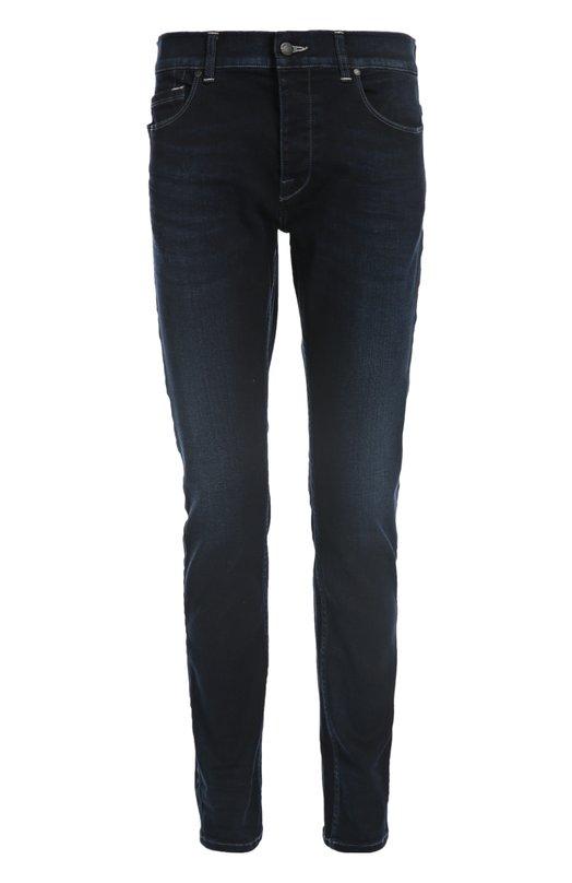 Джинсы 7 For All MankindДжинсы<br>Темно-синие джинсы slim fit из весенне-летней коллекции 2016 года дополнены декоративными потертостями. Мастера марки произвели модель из эластичного хлопка. Наши стилисты предлагают носить с футболкой, кардиганом и ботинками.<br><br>Российский размер RU: 50<br>Пол: Мужской<br>Возраст: Взрослый<br>Размер производителя vendor: 34<br>Материал: Хлопок: 99%; Эластан: 1%;<br>Цвет: Темно-синий