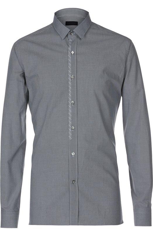 Приталенная рубашка в клетку Lanvin Contemporary RMSI0049-S05400P16