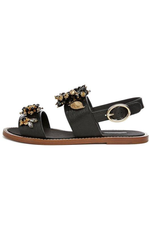Кожаные сандалии Bianca с декором Dolce & Gabbana 0112/CQ0060/AD352
