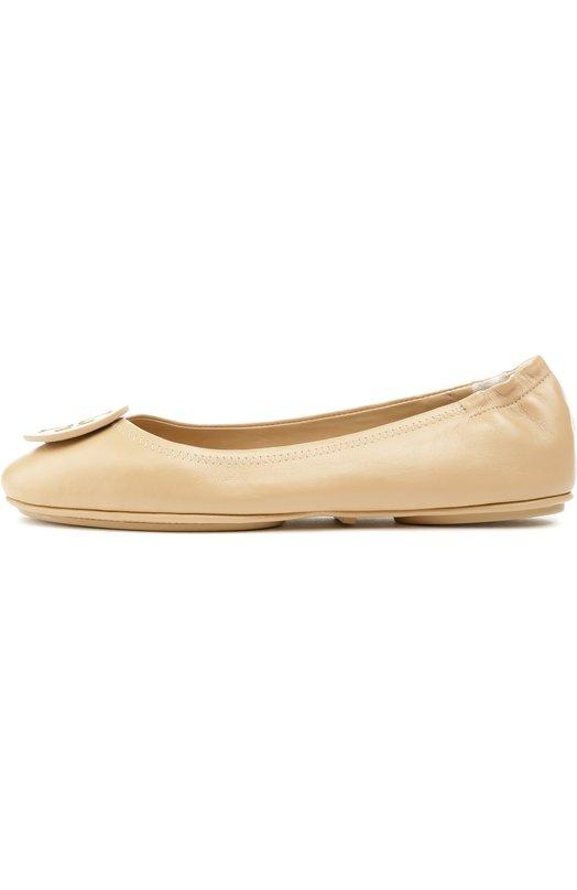 Кожаные балетки Minnie Travel с декором Tory Burch 51158251