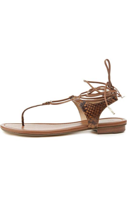 Кожаные сандалии Sofia на шнуровке Michael Michael Kors 40S6SFFA2E