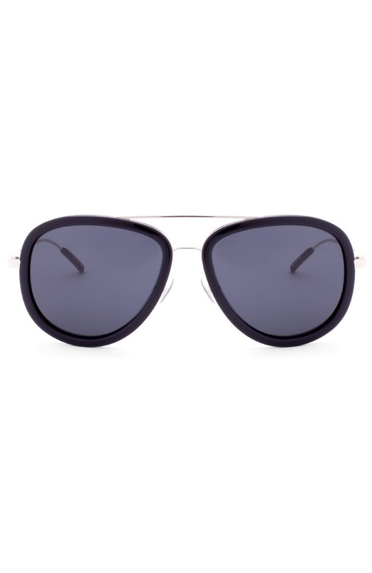 Солнцезащитные очки 3.1 Phillip LimОчки<br>Солнцезащитные очки в оправе из прочного черного ацетата и тонкого легкого металла дополнены тонированными зеркальными линзами с максимальной степенью защиты от УФ-лучей. Мастера бренда, основанного Филлипом Лимом, изготовили модель вручную.<br><br>Пол: Женский<br>Возраст: Взрослый<br>Размер производителя vendor: NS<br>Цвет: Бесцветный