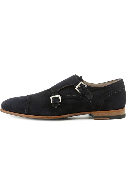 Туфли KitonТуфли<br>Для изготовления туфель на наборном квадратном каблуке мастера марки использовали мягкую бархатистую замшу темно-синего цвета. Двойные монки из коллекции сезона весна-лето 2016 года фиксируются на ноге ремешками с металлическими пряжками.<br><br>Российский размер RU: 42<br>Пол: Мужской<br>Возраст: Взрослый<br>Размер производителя vendor: 8-5<br>Материал: Стелька-кожа: 100%; Подошва-кожа: 100%; Замша натуральная: 100%;<br>Цвет: Темно-синий
