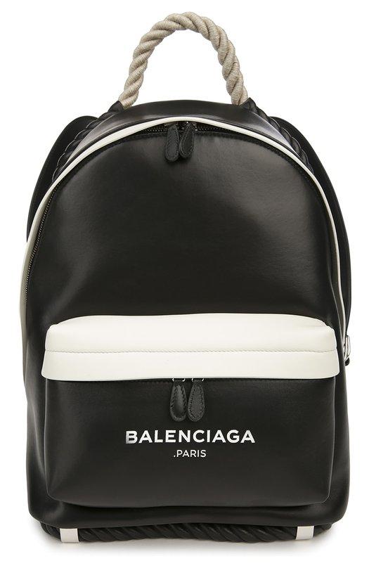 Кожаный рюкзак Navy с ручкой-канатом Balenciaga 409010/C801N