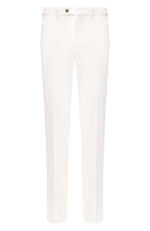 Зауженные брюки из смеси хлопка и льна Loro PianaБрюки<br><br><br>Российский размер RU: 58<br>Пол: Мужской<br>Возраст: Взрослый<br>Размер производителя vendor: 56<br>Материал: Хлопок: 76%; Лен: 24%;<br>Цвет: Белый