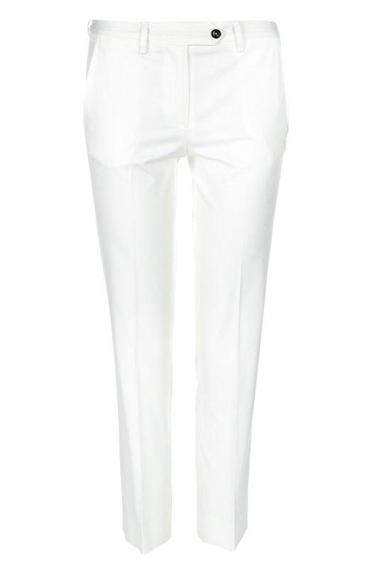 Укороченные хлопковые брюки KitonБрюки<br>Укороченные брюки со стрелками вошли в коллекцию сезона весна-лето 2016 года. Облегающая модель сшита мастерами марки из белого хлопка стрейч. Наши стилисты предлагают сочетать с серым джемпером, тренчем в тон и черными туфлями.<br><br>Российский размер RU: 46<br>Пол: Женский<br>Возраст: Взрослый<br>Размер производителя vendor: 44<br>Материал: Хлопок: 97%; Эластан: 3%;<br>Цвет: Белый
