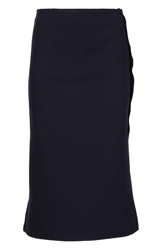 Прямая юбка с контрастной отделкой Acne Studios 13Q161