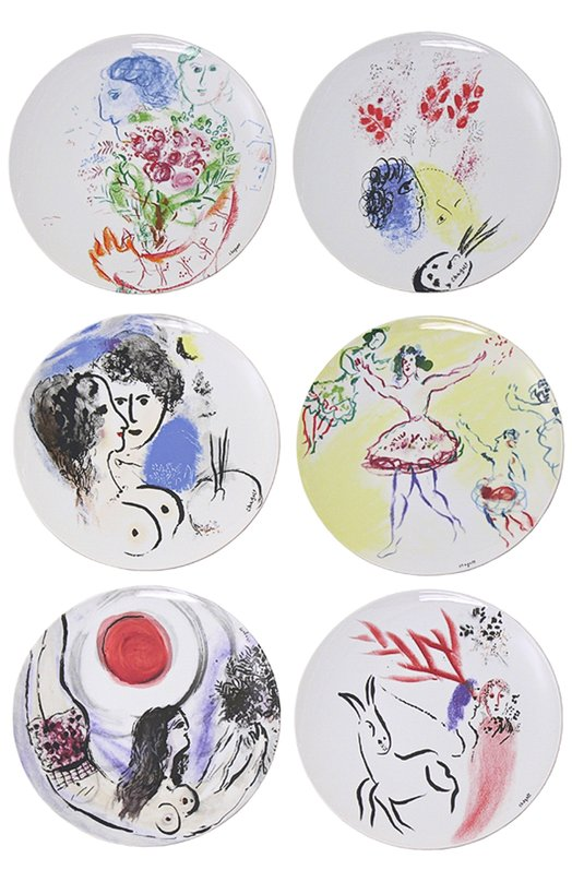 ����� �� 6-�� ��������� ������� Collection Marc Chagall Bernardaud 0088/13-6