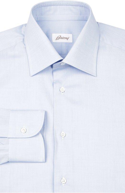 Сорочка BrioniРубашки<br>Светло-голубая рубашка Madison с воротником кент и длинными рукавами вошла в коллекцию сезона весна-лето 2016 года. Модель раскроена и сшита мастерами бренда вручную из мягкого премиум-хлопка. Попробуйте сочетать с темно-синим костюмом, разноцветным галстуком и оксфордами.<br><br>Российский размер RU: 52<br>Пол: Мужской<br>Возраст: Взрослый<br>Размер производителя vendor: 42<br>Материал: Хлопок: 100%;<br>Цвет: Голубой