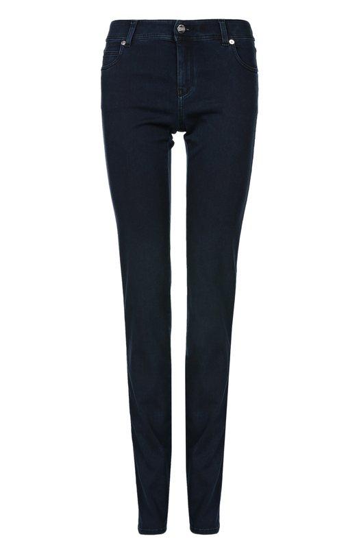 Хлопковые джинсы-дудочки Armani Collezioni CHJ35/2F