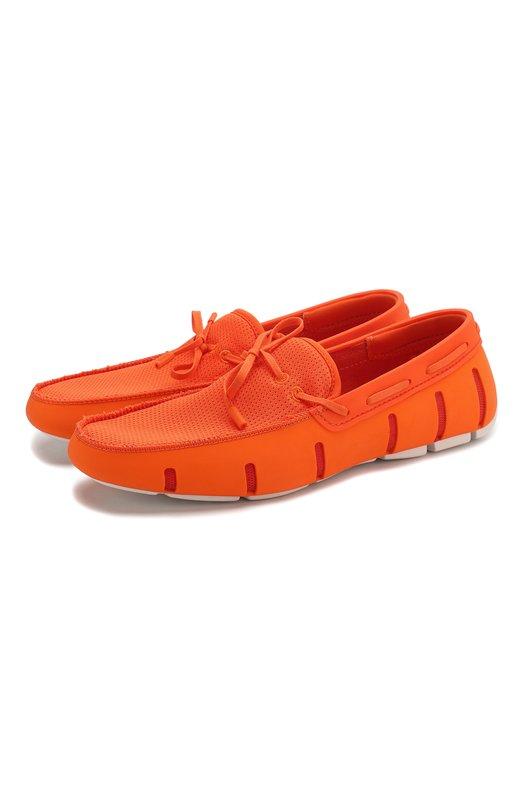 Непромокаемые топсайдеры Lace Front SwimsТопсайдеры<br>Непромокаемые топсайдеры Lace Front из пластичной резины дополнены вставками из мембранного текстиля в тон. Модель на рифленой подошве с антискользящим протектором вошла в коллекцию сезона весна-лето 2016 года. Регулируемый шнурок обеспечивает плотное прилегание обуви к ноге.<br><br>Российский размер RU: 46<br>Пол: Мужской<br>Возраст: Взрослый<br>Размер производителя vendor: 46<br>Материал: Нейлон; Подошва – резина 100%; Стелька – EVA-материал: 100%<br>Цвет: Оранжевый