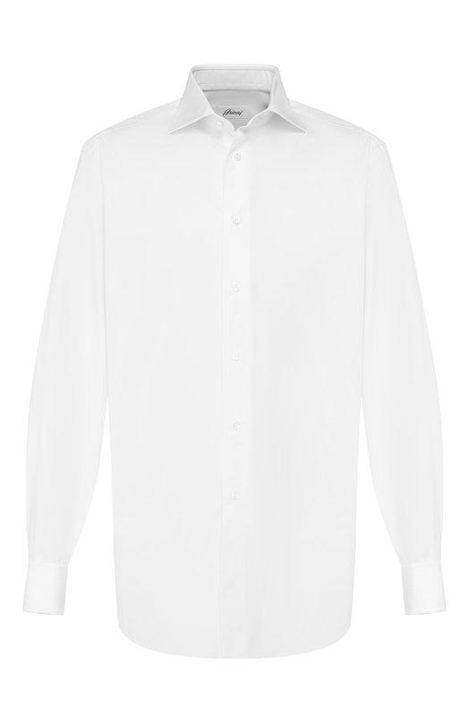 Купить Хлопковая сорочка с воротником кент Brioni, RCL4/PZ001, Италия, Белый, Хлопок: 100%;