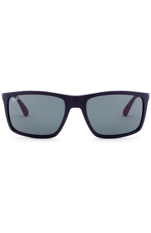Солнцезащитные очки Ray-BanОчки<br>Солнцезащитные очки в черной матовой оправе из гибкого пластика дополнены тонированными поляризованными линзами с антибликовым покрытием и максимальной степенью затемнения. Вставки на дужках и заушники произведены из мягкого бордового каучука.<br><br>Пол: Мужской<br>Возраст: Взрослый<br>Размер производителя vendor: NS<br>Цвет: Бесцветный