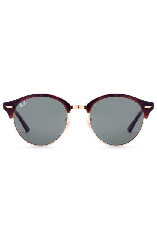 Солнцезащитные очки Ray-BanОчки<br>Обновленная версия модели Clubround выполнена из прочного пятнистого пластика в сочетании с позолоченным металлом. Солнцезащитные очки дополнены зелеными линзами с максимальным затемнением и высокой степенью защиты от УФ-лучей.<br><br>Пол: Мужской<br>Возраст: Взрослый<br>Размер производителя vendor: NS<br>Цвет: Бесцветный