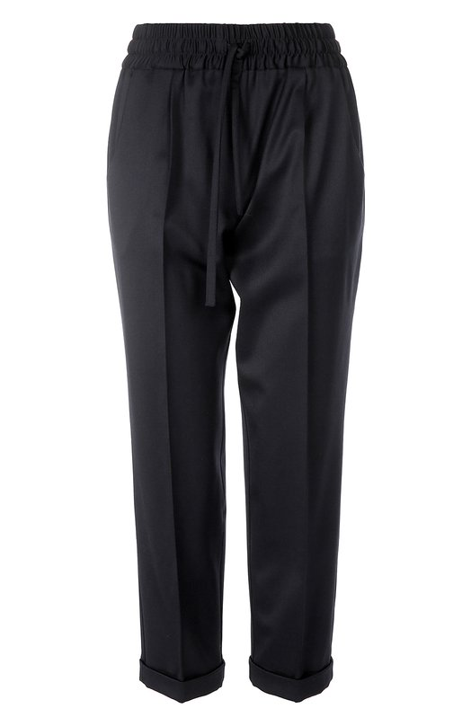 Шерстяные укороченные брюки-дудочки KitonБрюки<br>Укороченные брюки со стрелками и небольшими отворотами вошли в весенне-летнюю коллекцию 2016 года. Для производства модели прямого кроя была использована мягкая темно-синяя шерсть. Эластичный пояс дополнен кулиской с продетым в нее шнурком. Рекомендуем сочетать с черно-белой блузой, светлой сумкой и сандалиями в тон.<br><br>Российский размер RU: 52<br>Пол: Женский<br>Возраст: Взрослый<br>Размер производителя vendor: 50<br>Материал: Шерсть: 98%; Эластан: 2%;<br>Цвет: Темно-синий