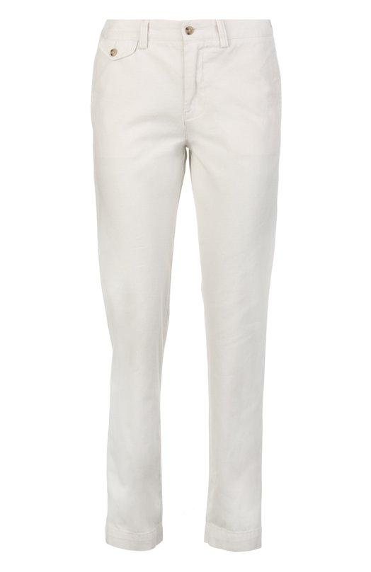 Хлопковые прямые брюки с прорезными карманами Polo Ralph Lauren V44/ID918/BD303