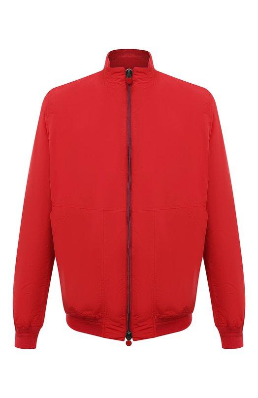 Куртка-бомбер KitonКуртки<br>Куртка вошла в коллекцию сезона весна-лето 2016 года. Мастера марки использовали для создания бомбера с двумя боковыми карманами дышащий полушелк красного цвета, для пояса и манжет – трикотаж-резинку в тон. Кожаная нашивка с перфорацией в виде логотипа бренда украшает воротник-стойку.<br><br>Российский размер RU: 62<br>Пол: Мужской<br>Возраст: Взрослый<br>Размер производителя vendor: 62<br>Материал: Полиамид: 62%; Шелк: 38%; Отделка-хлопок: 100%;<br>Цвет: Красный
