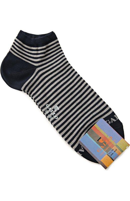 Хлопковые укороченные носки в полоску Gallo LD2985Y