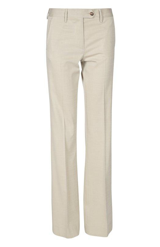 Расклешенные брюки с завышенной талией KitonБрюки<br>Для создания расклешенных брюк бежевого цвета использована мягкая тонкая шерсть с добавлением хлопка и шелка. Модель с четырьмя карманами вошла в коллекцию сезона весна-лето 2016 года. Попробуйте сочетать с удлиненным жилетом, лонгсливом и босоножками.<br><br>Российский размер RU: 40<br>Пол: Женский<br>Возраст: Взрослый<br>Размер производителя vendor: 38<br>Материал: Шерсть: 50%; Хлопок: 44%; Шелк: 4%; Лиоселл: 2%;<br>Цвет: Бежевый