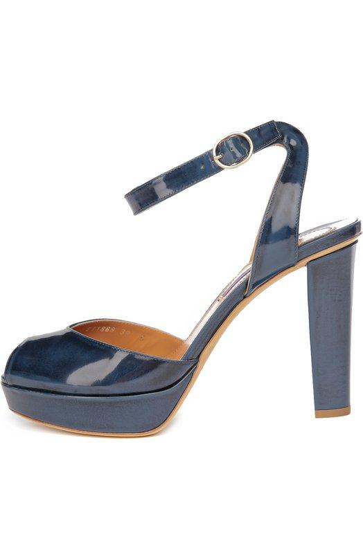 Лаковые босоножки Vesper на устойчивом каблуке Ralph Lauren 860/FVESP/RSP29