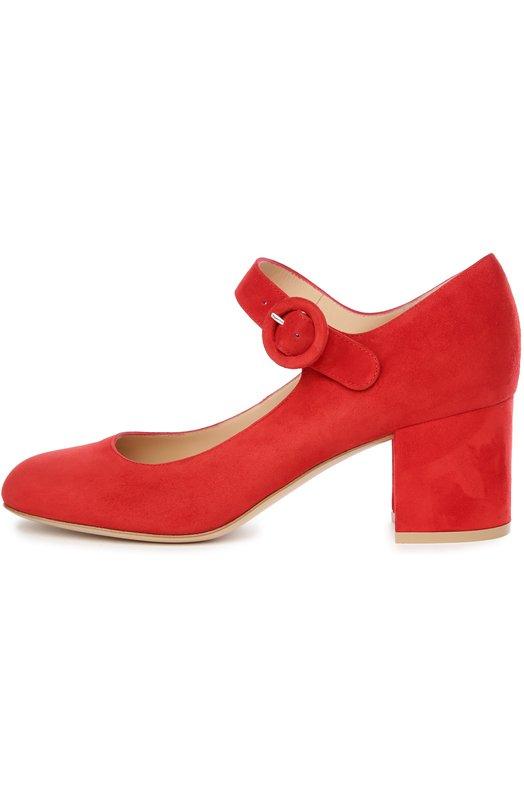 Туфли Gianvito RossiТуфли<br>Джанвито Росси дополнил модель ремешком с круглой пряжкой в тон, фиксирующим обувь на щиколотке. Туфли из мягкой красной замши на невысоком устойчивом каблуке вошли в весенне-летнюю коллекцию 2016 года.<br><br>Российский размер RU: 37<br>Пол: Женский<br>Возраст: Взрослый<br>Размер производителя vendor: 37<br>Материал: Стелька-кожа: 100%; Подошва-кожа: 100%; Замша натуральная: 100%;<br>Цвет: Красный
