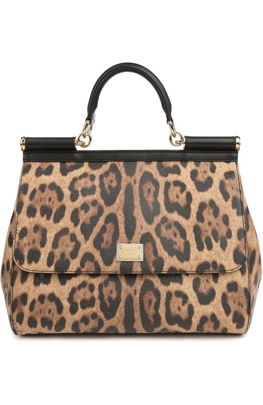 Сумка Sicily large с леопардовым принтом Dolce & Gabbana 0116/BB6015/A7158