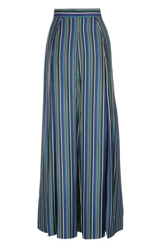 Шелковая юбка макси в полоску Kiton D41215/9M84