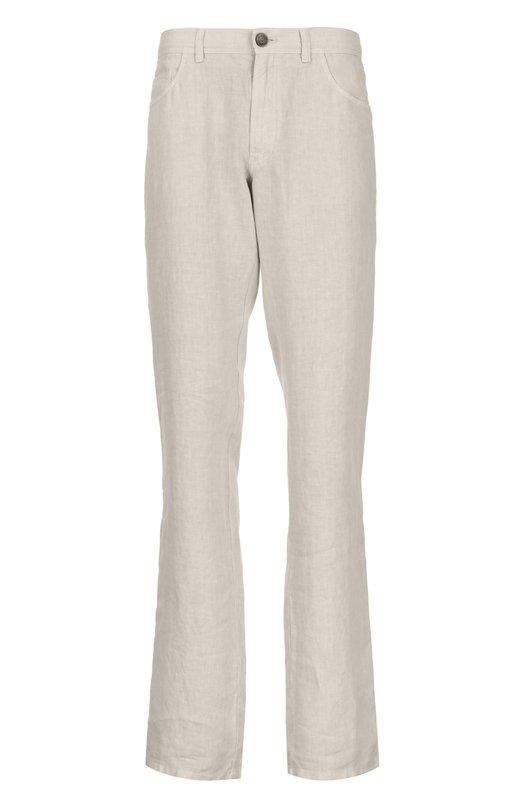 Прямые льняные брюки Brioni SPL2/P4T03/STELVI0