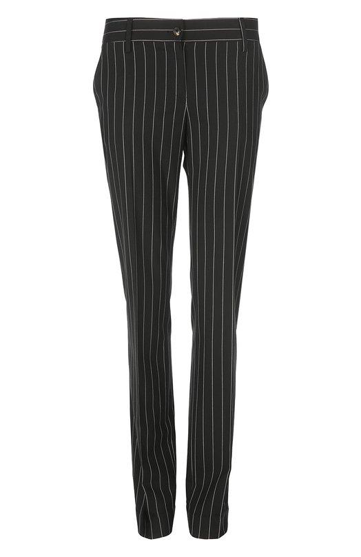 Прямые шерстяные брюки в полоску Kiton D38104/8B08