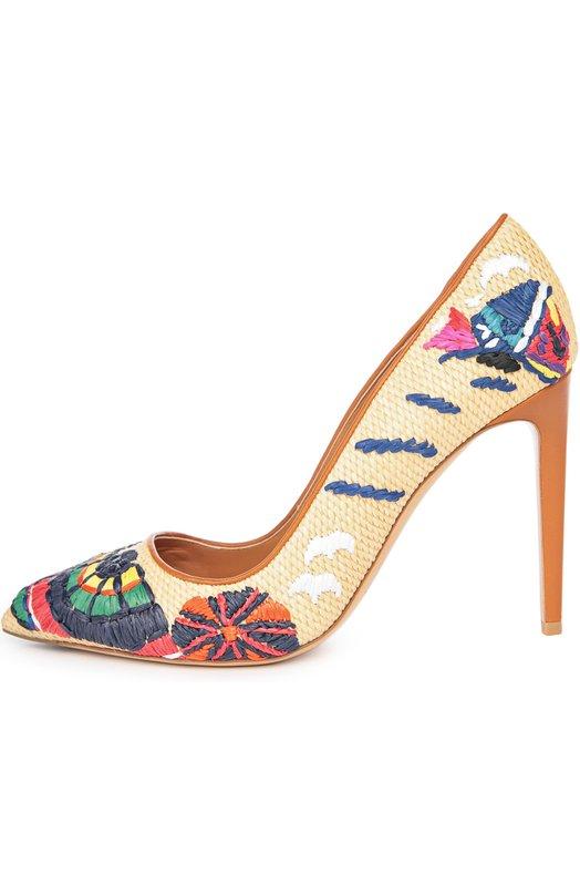 Плетеные туфли Celia с вышивкой Ralph Lauren 858/FCELI/RSP09