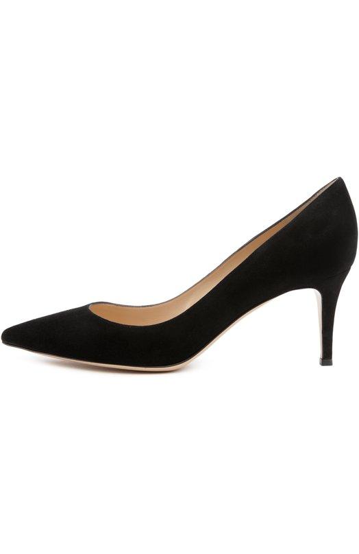Купить Замшевые туфли Gianvito 70 на шпильке Gianvito Rossi Италия 2167698 G26770/SUEDE