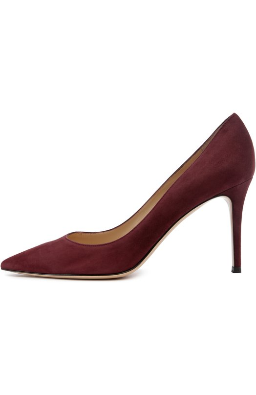 Купить Замшевые туфли Gianvito 85 на шпильке Gianvito Rossi, G24580/SUEDE, Италия, Бордовый, Стелька-кожа: 100%; Подошва-кожа: 100%; Замша натуральная: 100%;