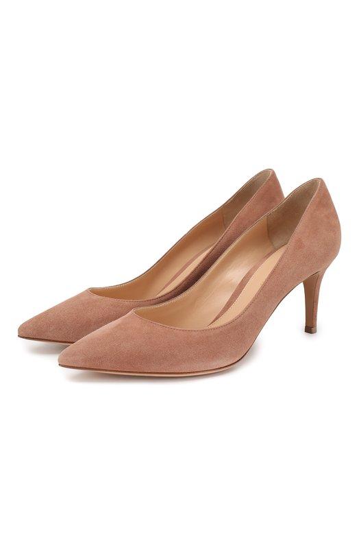 Замшевые туфли Gianvito 70 на шпильке Gianvito Rossi Италия 2167698 G26770/SUEDE  - купить со скидкой