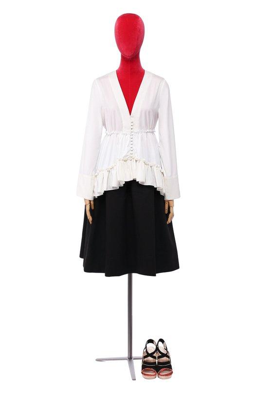Расклешенная блуза с оборками и асимметричным низом Balenciaga 426485/TMB26