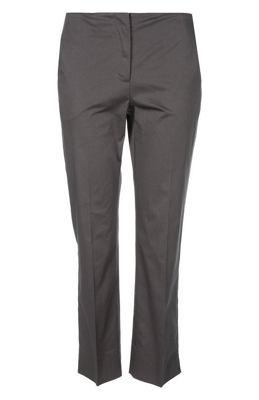Хлопковые прямые брюки со стрелками Armani Collezioni TMP17T/TM011
