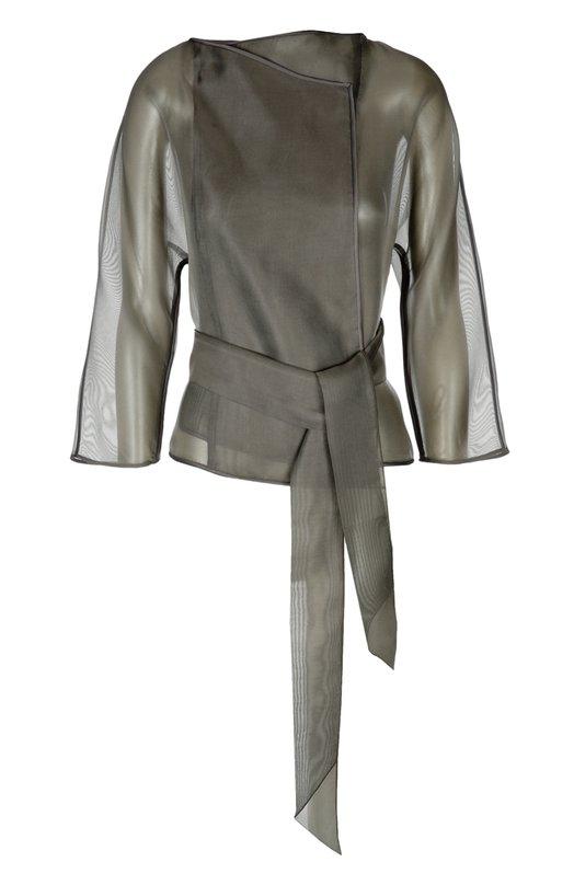 Шелковый прозрачный жакет-кимоно Armani Collezioni TMF11T/TM480