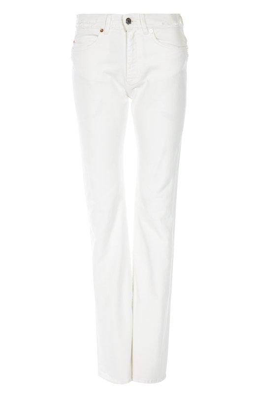 Джинсы Acne StudiosДжинсы<br>При производстве джинсов прямого кроя мастера бренда использовали мягкий белый хлопок с добавлением волокон эластана. Модель, декорированная потертостями, вошла в коллекцию сезона весна-лето 2016 года.<br><br>Российский размер RU: 44<br>Пол: Женский<br>Возраст: Взрослый<br>Размер производителя vendor: 27<br>Материал: Хлопок: 98%; Эластан: 2%;<br>Цвет: Белый