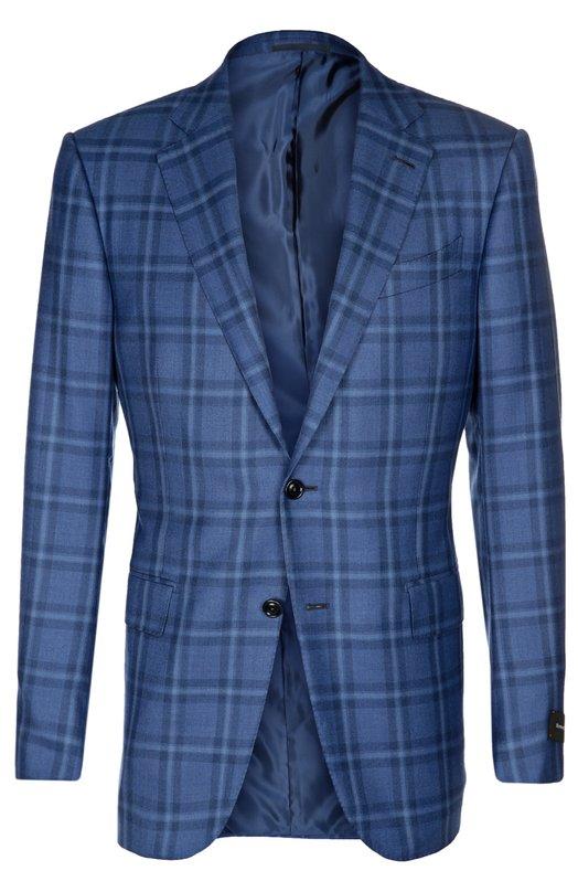 Приталенный пиджак из смеси кашемира с шелком Ermenegildo Zegna 759019121220