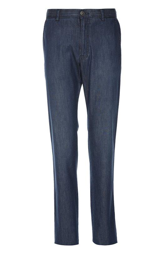 Прямые джинсы из эластичного хлопка Brioni SPL5/P3D02/SUNSET/SS2016