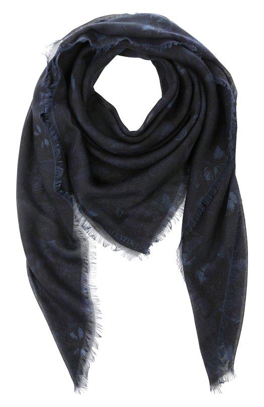 Платок из смеси кашемира и шелка с принтом Valentino LU2EB001/SWB