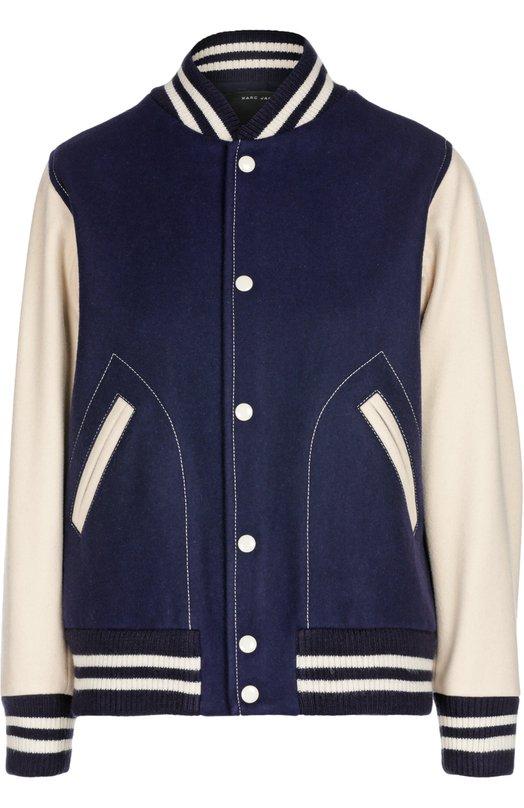 Куртка-бомбер с манжетами и принтом на спине Marc Jacobs M4005638