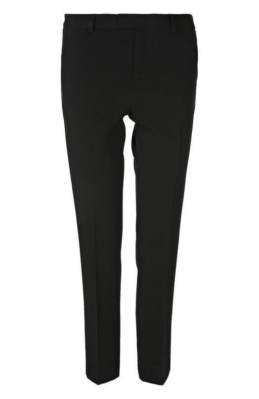 Укороченные прямые брюки с врезными карманами REDVALENTINOБрюки<br>В осенне-зимнюю коллекцию бренда, основанного Валентино Гаравани, вошли укороченные брюки черного цвета. Зауженная модель с двумя боковыми и двумя задними прорезным карманами сшита из мягкого крепа. Мы предлагаем носить с темным джемпером и белыми босоножками.<br><br>Российский размер RU: 46<br>Пол: Женский<br>Возраст: Взрослый<br>Размер производителя vendor: 44<br>Материал: Ацетат: 52%; Вискоза: 45%; Эластан: 3%;<br>Цвет: Черный