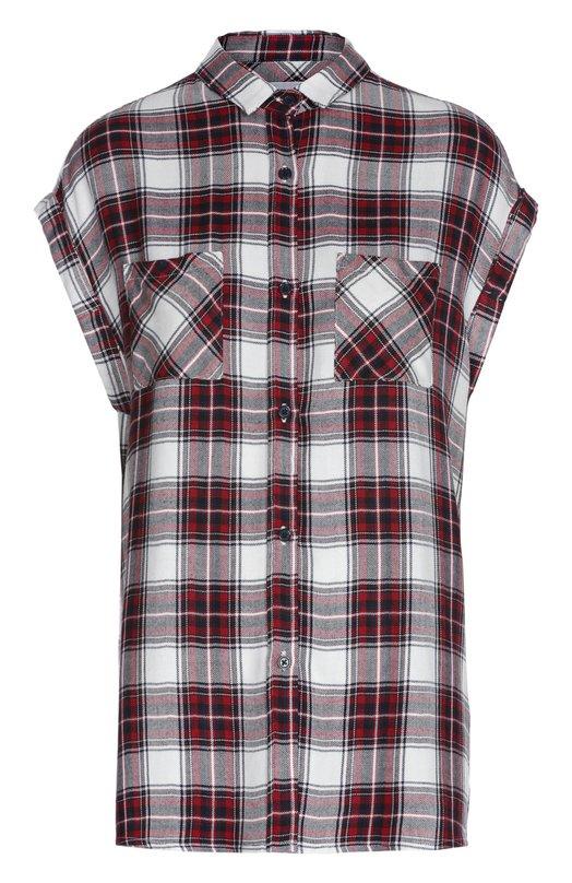 Блуза в клетку без рукавов с накладными карманами RailsБлузы<br>Блуза без рукавов вошла в коллекцию сезона весна-лето 2016 года. Модель с накладными карманами изготовлена из тонкого гладкого текстиля в клетку. Наши стилисты рекомендуют сочетать с белыми брюками, светлыми кроссовками и синей сумкой.<br><br>Российский размер RU: 44<br>Пол: Женский<br>Возраст: Взрослый<br>Размер производителя vendor: M<br>Материал: Вискоза: 100%;<br>Цвет: Красный